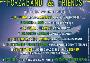 Disponibili gli eventi ForzaBand & Friends per l'estate 2015